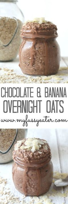 Overnight Oats Cocoa Banana Overnight Oats so quick and easy great for breakfast on the run!Cocoa Banana Overnight Oats so quick and easy great for breakfast on the run! Banana Overnight Oats, Healthy Overnight Oats, Overnight Breakfast, Overnight Porridge Recipes, Overnight Oats Coconut Milk, Chocolate Overnight Oats, Slimming World Overnight Oats, Banana Oats, Banana Breakfast