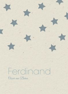 Bij ons bestel je deze look-a-like #kaartjes op #karton voor de normale prijs van onze #geboortekaartjes. Ferdinand | sterren op karton | Snoesjes