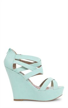 Open Toe Strappy Platform Wedge