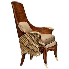 Jonathan Charles Empire Style Winged Chair