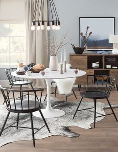 Get inspired by Modern Dining Room Design photo by Room Ideas. Wayfair lets you find the designer products in the photo and get ideas from thousands of other Modern Dining Room Design photos. Farmhouse Dining Chairs, Dining Chair Set, Dining Room Furniture, New Furniture, Kitchen Dining, Room Chairs, Dining Rooms, Nursery Chairs, Kitchen Decor