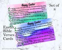 Scripture Easter Cards, Easter Bible Verses cards, Printable Easter Card, Bible journaling, Easter B Easter Bible Verses, Bible Verses For Kids, Easter Quotes, Verses For Cards, Scripture Verses, Easter Sayings, Bible Bible, Printable Cards, Printable Scripture