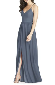 8286dd2b02 Social Bridesmaids Off the Shoulder Chiffon Gown