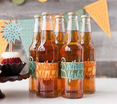 Decorate! Celebrate! Cricut cartridge -- Birthday wishes soda bottle labels. Make It Now with the Cricut Explore machine in Cricut Design Space.