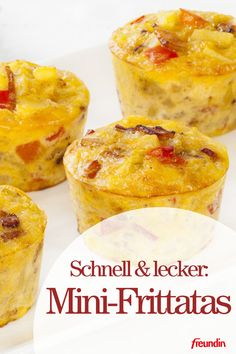schnell-und-lecker-mini-frittatas-fur-ihre-party-freundin-de/ - The world's most private search engine Frittata Muffins, Mini Frittata, Snacks Für Party, Easy Snacks, Karneval Snacks, Cocktail Party Food, Little Cakes, Unique Recipes, Finger Foods