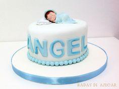 Tarta bebé nacimiento bautizo de Angel Hadas de Azúcar / Christening or baby shower cake