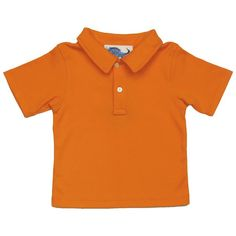 Boys Orange Polo Shirt - Baby Boy Tops - Boys - Little Chickie