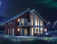 Nova, høy glassfasade og åpent mellom etasjene | Norgeshus