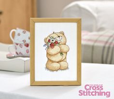 Cross stitch a cute Forever Friends bear - make him for yourself or as a gift. Find the pattern in the new issue211 of The World of Cross Stitching magazine