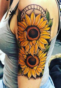 3b64ddaf1 sunflower tattoo © tattoo artist Dylan Talbert Davenport 💛🌻💛🌻💛🌻💛🌻💛