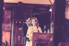 Vintage Pre wedding session on Orient Express railway restaurant by Nikos Arvanitidis creative group