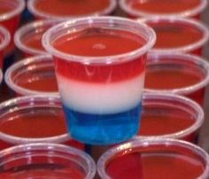 Red, white and blue -Jello Shot