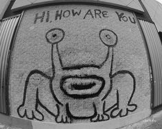 Hi How Are You mural. Austin, Texas