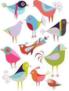Illustrations and embroidery kits by nancy nicholson Vogel Illustration, Illustration Inspiration, Bird Quilt, Folk Embroidery, Bird Patterns, Bird Drawings, Bird Design, Grafik Design, Whimsical Art