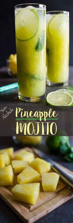 Non-Alcoholic Pineapple Mojito