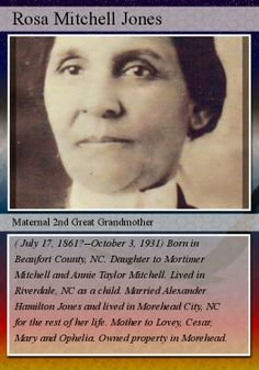 Fearless Females: Genealogy Trading Card For Rosa Mitchell Jones  #genealogy #familyhistory trade card, trading cards