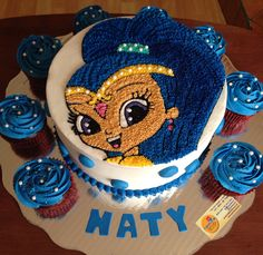 Shimmer and Shine cake & cupcakes