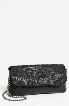 lace foldover clutch $38