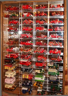 Collection of Matchbox limited edition fire engines. Wish I had this ! JBC