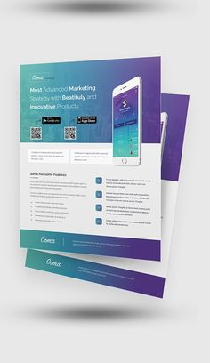 Buy Mobile App Promotion Flyer Templates by rtralrayhan on GraphicRiver. Mobile App Promotion Flyer Templates This template contains 2 layered and organised PSD Flyers, those can be use for. Business Flyer Templates, Flyer Design Templates, Brochure Template, Layout Design, Web Design, Mobile App, App Promotion, Promotion Ideas, Graphic Design Brochure