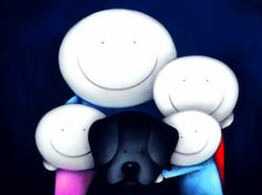 Ramblers - Paper edition by Doug Hyde You Are My Rock, All The Feels, Black Labrador, Happy People, Mother And Child, Happy Family, Hyde, Cute Art, Whimsical