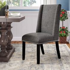 Wayfair Small Living Room Chairs Unique Darby Home Co Florinda Wood Leg Upholstered Dining Chair In 2019 Solid Wood Dining Chairs, Upholstered Dining Chairs, Dining Chair Set, Dining Furniture, Dining Room, Kitchen Dining, Industrial Furniture, Furniture Movers, Deco Furniture