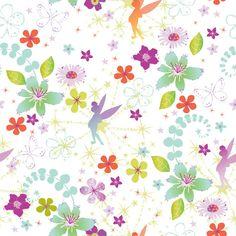 paper-backing wallpaper Tinkerbell Retro 72399
