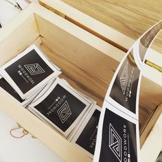 Custom made box for the stickers #carpentry #woodwork #woodworking #wood #diy #maker #make #handmade #craft #craftsman #palletwood #pallets #palletwoodproject de alijanah