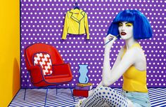 Retailer Aizone's Ads Brings to Life the Work of Roy Lichtenstein #branding trendhunter.com