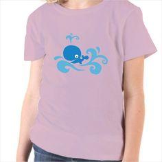 Camiseta infantil Ballena divertida