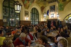 happy time in Hofbrauhaus(DSCF7905-1.jpg) - people having a good time in Hofbrauhaus,Munich.The establisment is brewery producing 7 different kind of beers and there is live traditional bavarian music at nights.Fun place..
