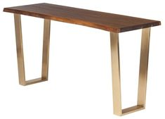 Toulouse Console, Seared Oak/Gold $1,430.00