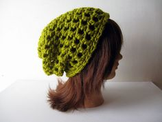 Slacker Beanie in Lemongrass Green  $25.00 Slacker beanies are back! xo