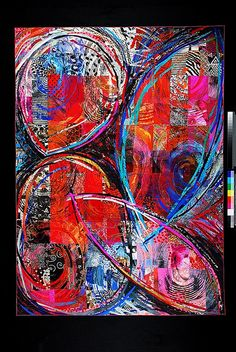 Abstract art quilt by Sue Benner, who is teaching a Master Class 1 and 10 by quiltsymposium, via Flickr