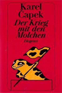 karel capek, der krieg mit den molchen, the war with the newts, newt, flag, cover art, book cover, novel, diogenes