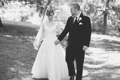 Blush and White Historic Church Wedding | Smithfield, Virginia | Bride and groom portraits