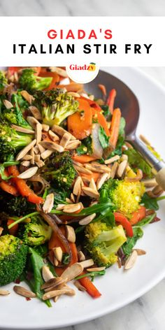 When you need a vegetable side dish for your Italian meal in a pinch, don't worry about slow-roasting any veggies! This Italian stir fry is a great method to cooking vegetables super quickly, and thanks to ingredients like oregano, garlic and vinegar, it has a bright Italian flavor that I love. You can really use up just about any odds-and-ends of veggies in your fridge (or freezer, for that matter) in this recipe, so it's wonderful for a kitchen-cleanout type of dinner.