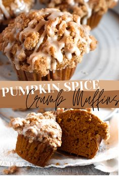Pumpkin Spice Curmb Muffins – Packed with pumpkin and topped with a crumb struesel, these Pumpkin Muffins are soft, fluffy, super moist, and absolutely delicious! The best weve ever made. Best Pumpkin Muffins, Pumpkin Bread, Pumpkin Pumpkin, Pumpkin Cookies, Pumpkin Carving, Chip Cookies, Cheese Pumpkin, Baking Recipes, Snack Recipes