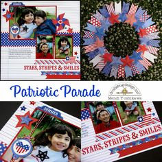 Patriotic Parade: Stars & Stripes Layout and Wreath