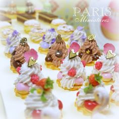 Miniature Doll house french pastries.
