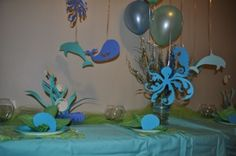 under the sea decorations love the paper octopus