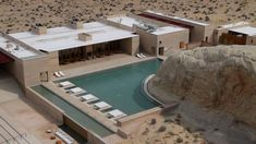 Swimming pool at the Amangiri Luxury Hotel Resort in Canyon Point Utah
