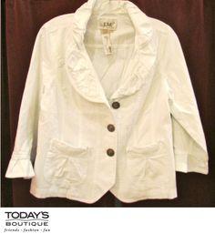Today's Boutique • www.todaysdestin.com • White blazer