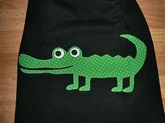 Langarmshirt-mit-Krokodil-Applikation-Gr-92-Dawanda-Handarbeit-Unikat-selfmade