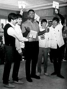 The Beatles meet Mohammed Ali