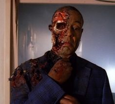 what a death scene - Gus Fring - cheers forever