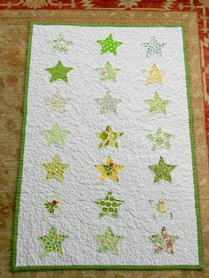 ticker tape star quilt. I love the simple look this quilt has.