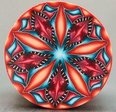 Polymer Clay Kaleidoscope Cane - 'Last Dance' by ikandiclay on Etsy