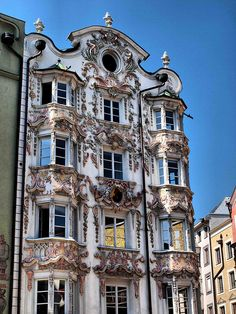 Innsbrook, Austria.  This facade is pretty spectacular!