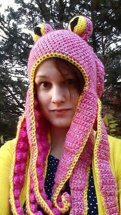 This is my attempt at an octopus hat. I've never written a pattern before so I apologize if it doesn't make sense. Feel free to message me with questions.